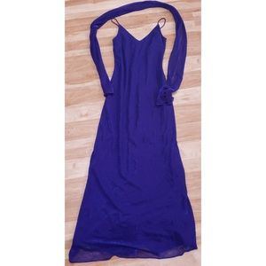 Betsy & Adam 1990s 3-4 Purple Sparkle Gown Dress